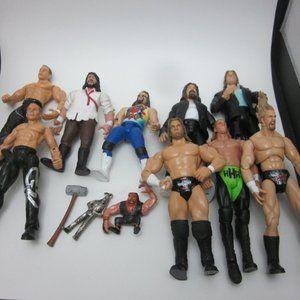 WWE wrestling figures- Shawn Michaels, Mick Foley